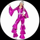 Disco Lady Dancing Dream Pink 70er Jahre